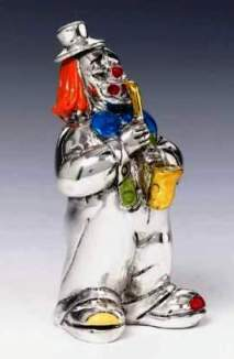 Silver Clown Saxophone