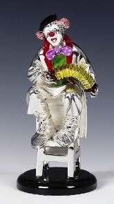 Silver Clown Accordian