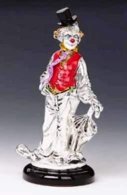Silver Clown Umbrella