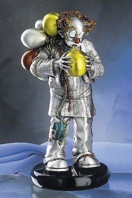 Silver Clown Balloons
