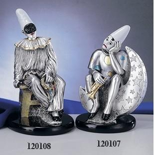 Silver Clown Pierrot Luna