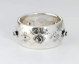 Silver Wine Bottle Ring