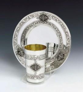 Silver Wine Cup Set Prachim