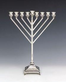 Silver Menorah Rubin