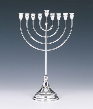 Silver Menorah Filigree