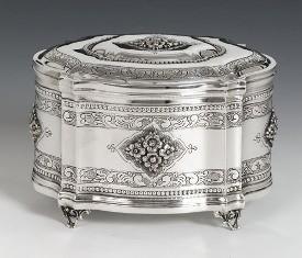 Silver Engraved Box Pas Prachim