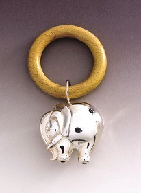 Silver Elephant Bell