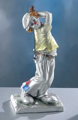 Silver Clown Golfer